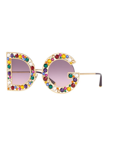 Crystal D&G Gradient Sunglasses