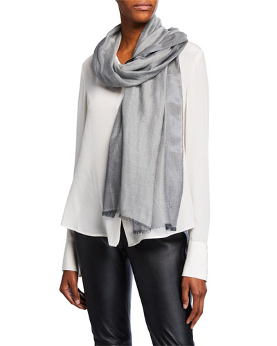 Two-Tone Shimmer Scarf, Black