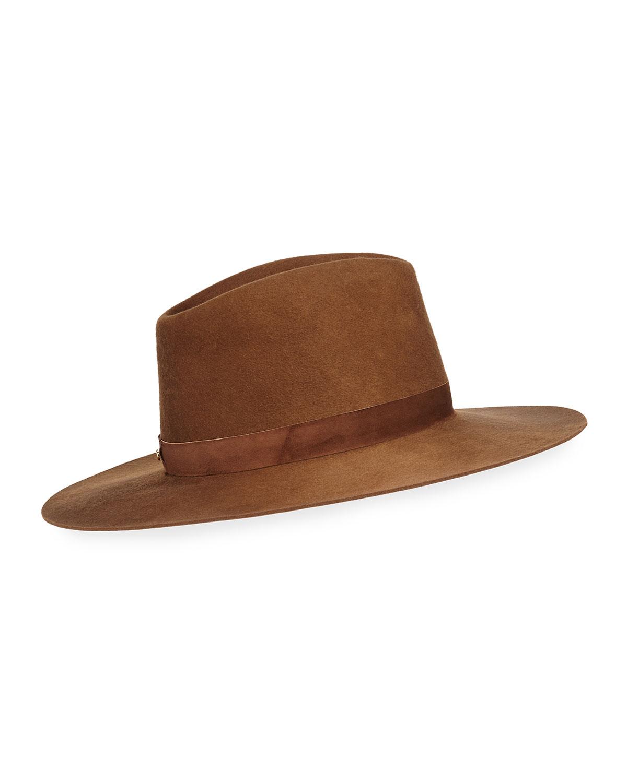 Janessa Leone Hats Harper Wool Fedora Hat
