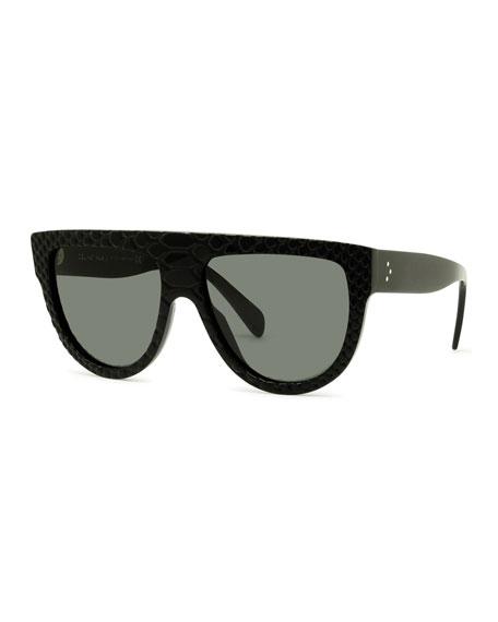 Celine Round Flattop Acetate Sunglasses