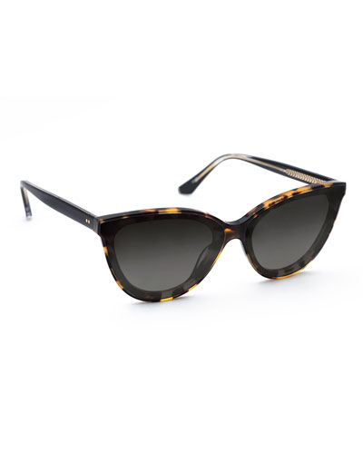 Monroe Nylon Cat-Eye Sunglasses
