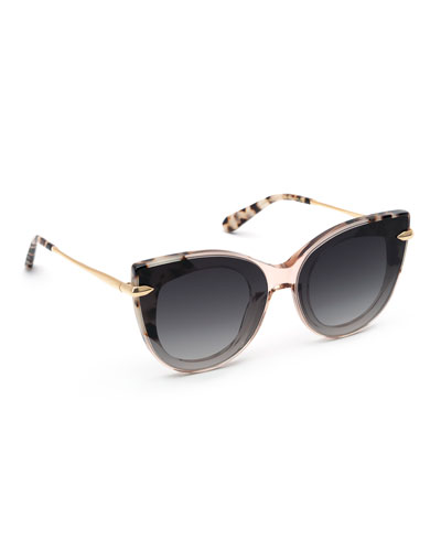 Laveau Nylon Cat-Eye Sunglasses