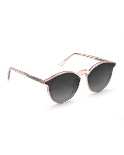 Collins Nylon Round Gradient Sunglasses