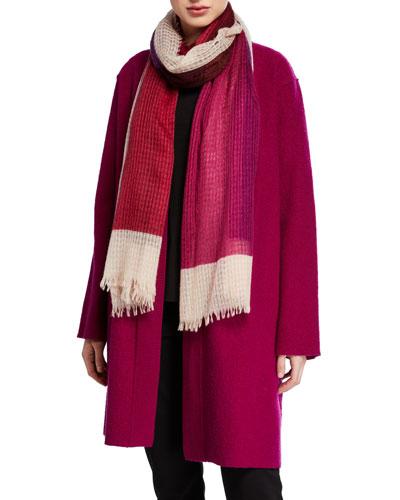 Airy Linen/Wool Block Scarf