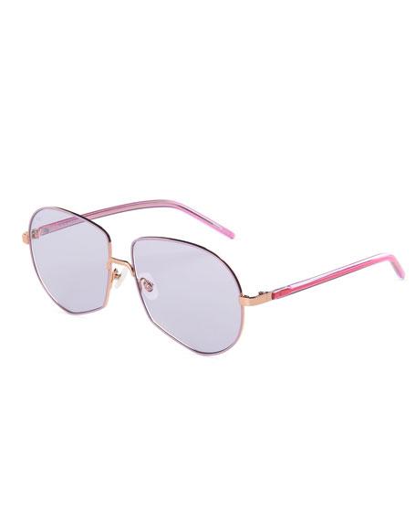 For Art's Sake Round Stainless Steel Sunglasses