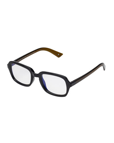 Hairy Otter Rectangle Blue Light Reading Glasses