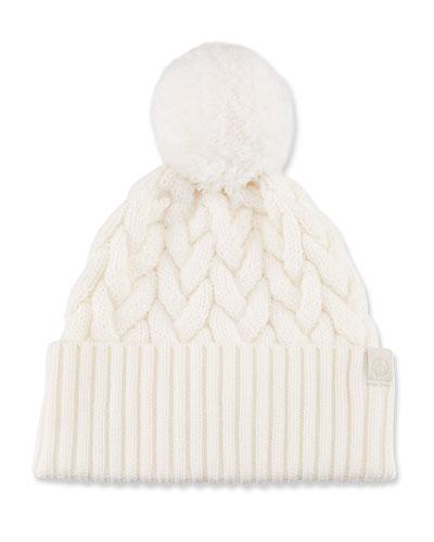 Aran Pompom Beanie Hat