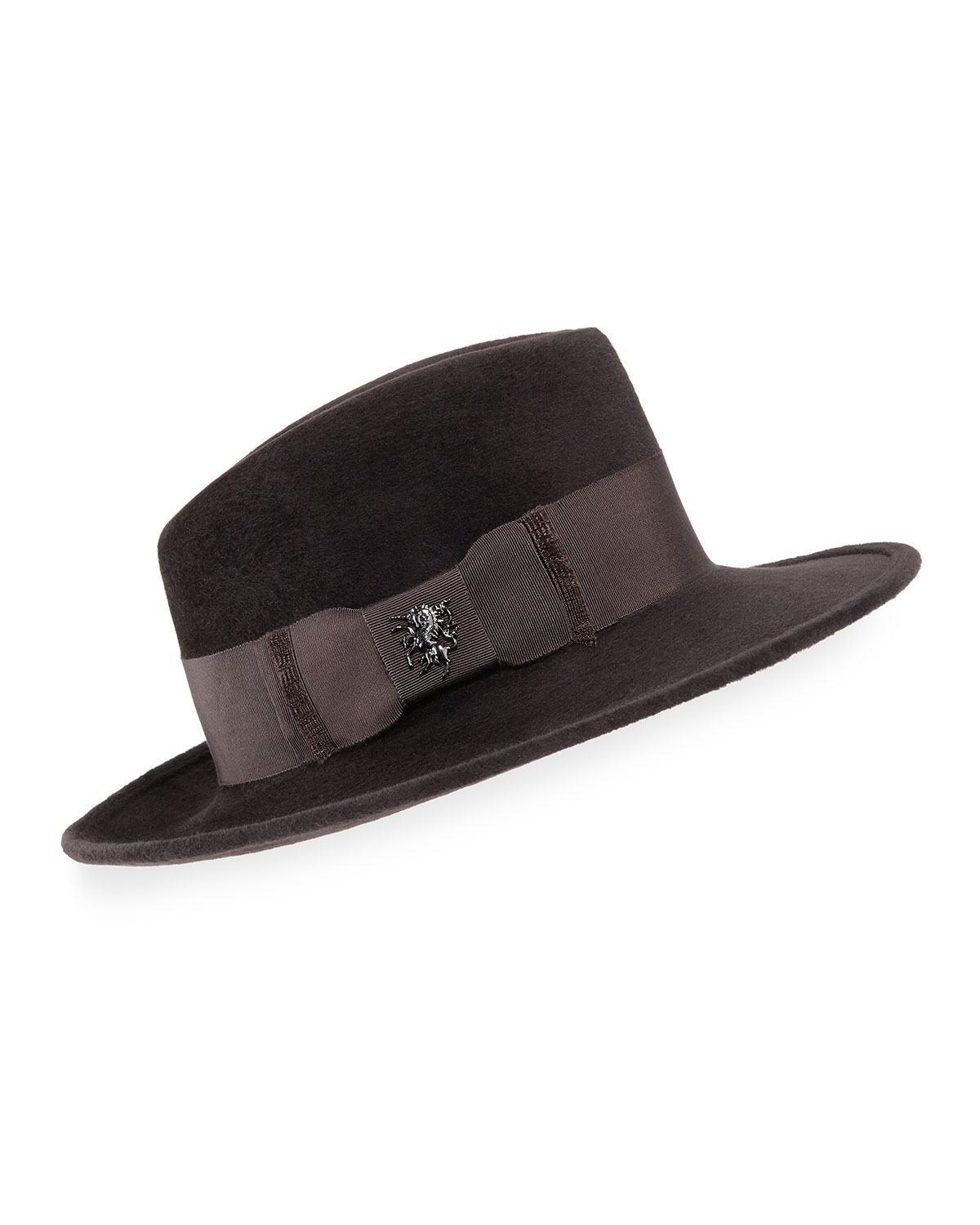 Philip Treacy Hats VELOUR RAIDER TRILBY HAT