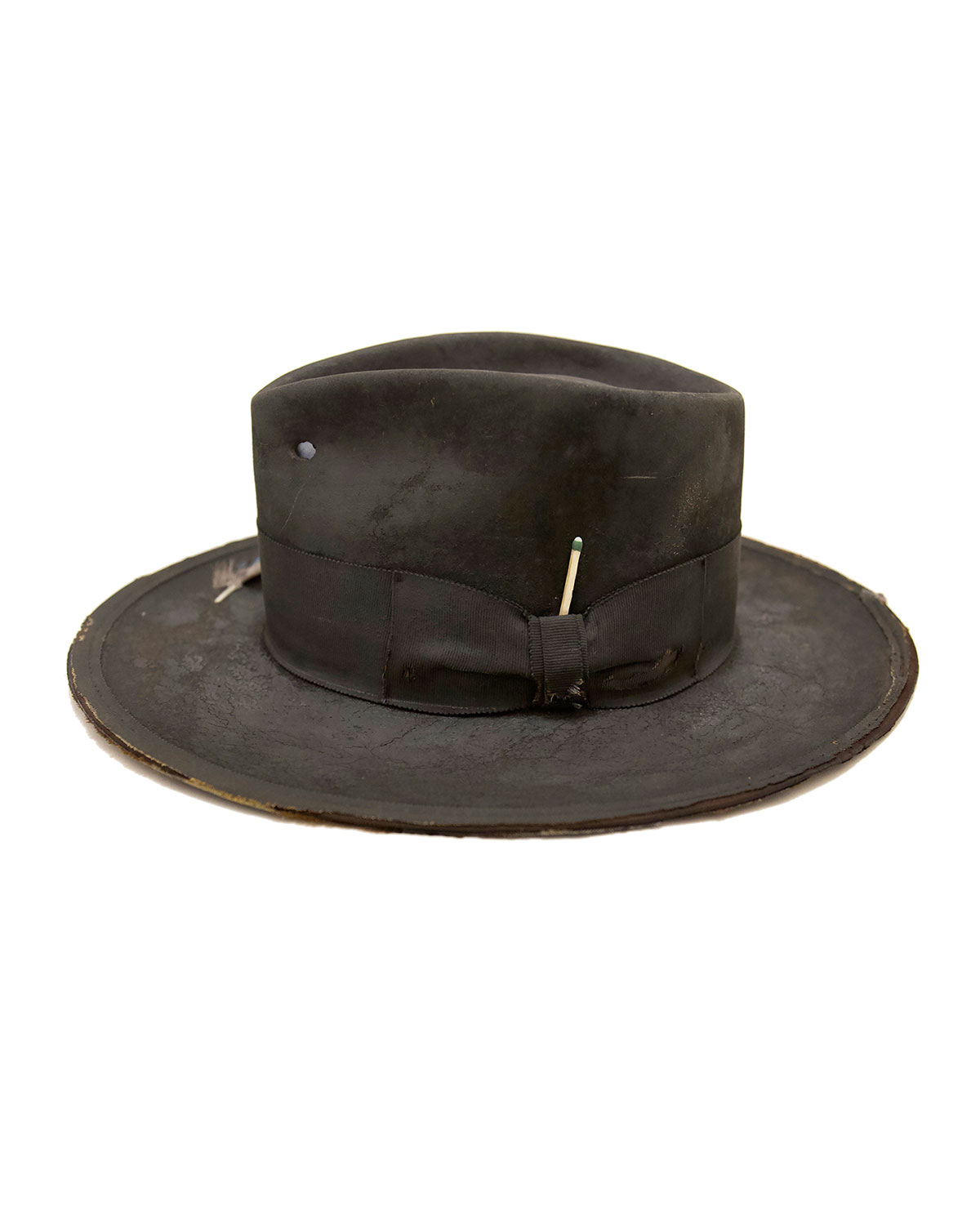 Nick Fouquet Hats THE NORTH END DISTRESSED BEAVER FELT FEDORA HAT