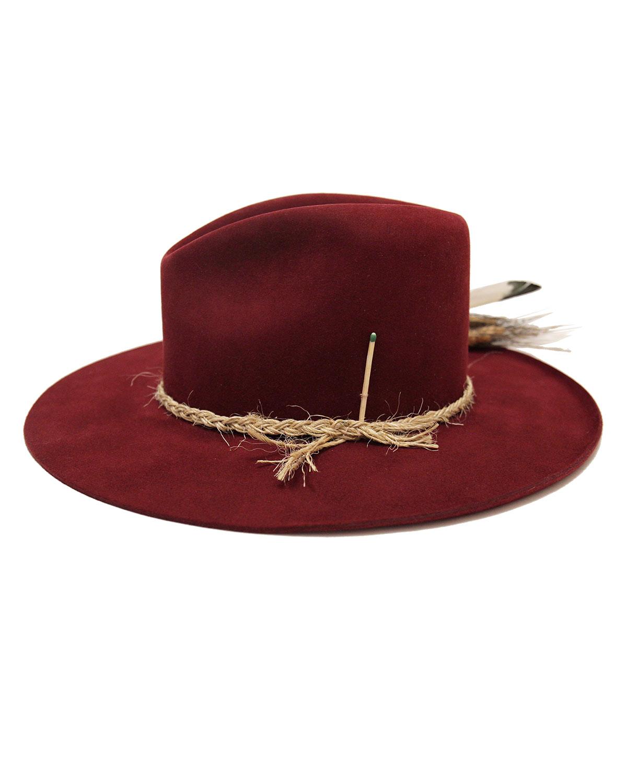 Nick Fouquet Hats SCARLETT BEAVER FELT FEDORA HAT W/ FEATHER TRIM