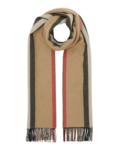 Reversible Icon Stripe Cashmere Scarf
