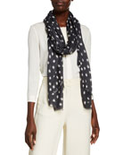 Lily and Lionel Cosmos Modal-Cashmere Scarf