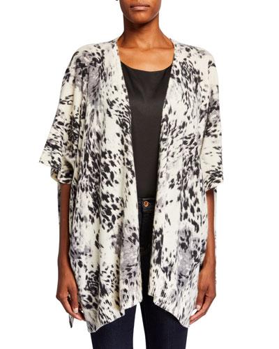 Leopard Print Cashmere Wrap