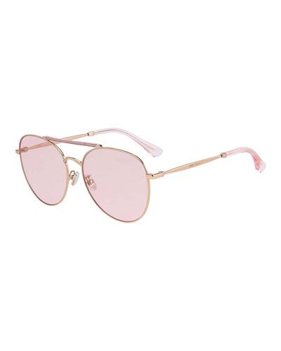 Abbiegs Aviator Stainless Steel Sunglasses