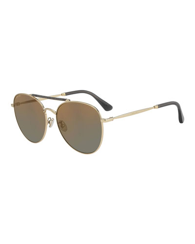 Abbiegs Aviator Stainless Steel Sunglasses