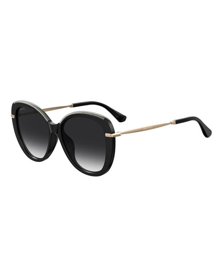 Jimmy Choo Phebefs Round Propionate Sunglasses