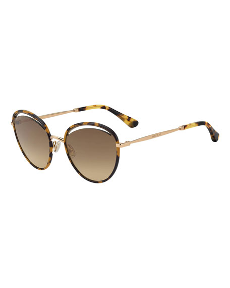 Jimmy Choo Malyas Round Cutout Sunglasses