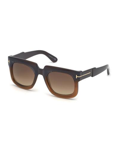 Christian Square Gradient Sunglasses
