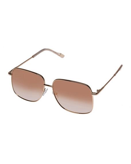 Le Specs Luxe Equilibrium Square Metal Sunglasses