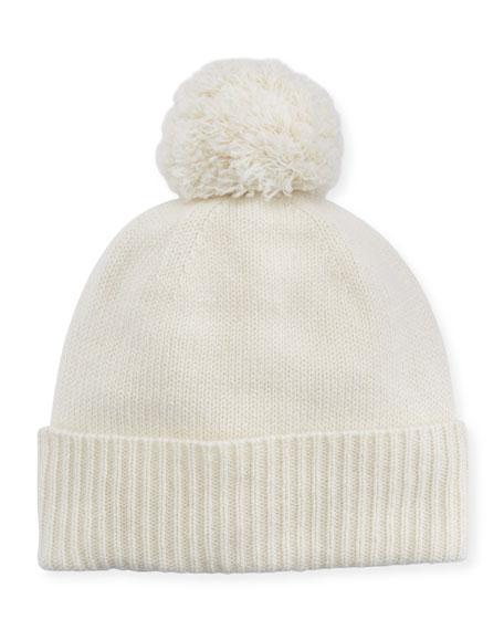Agnona Cashmere Pom-Pom Beanie Hat