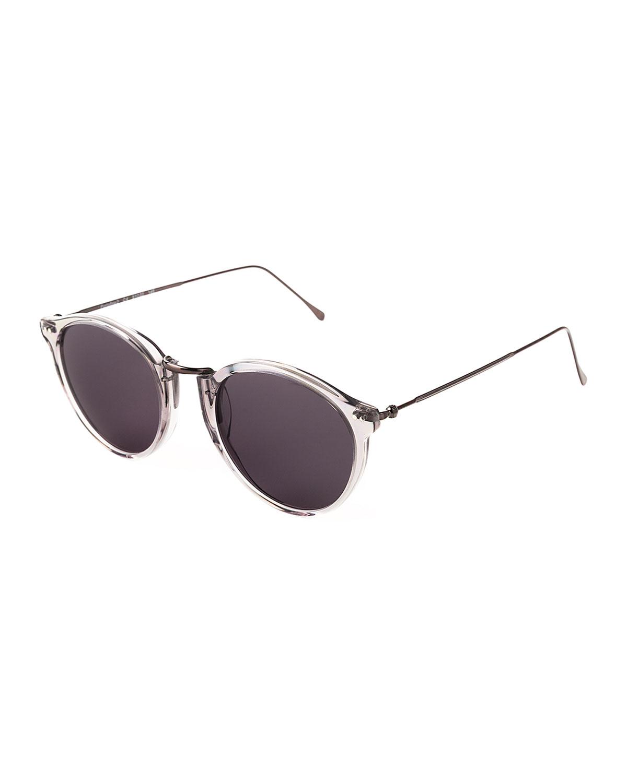 Portofino II Round Metal & Acetate Sunglasses