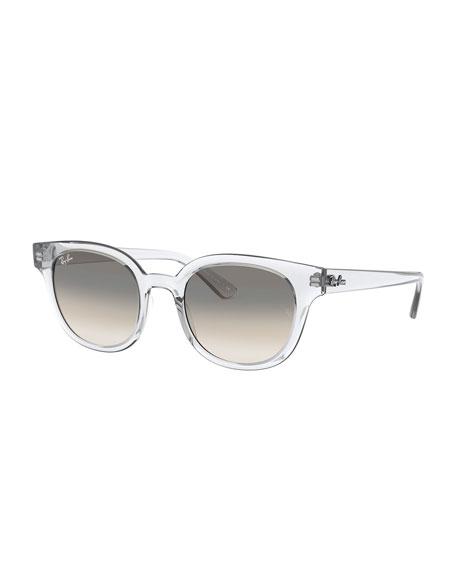 Ray-Ban Square Transparent Propionate Sunglasses