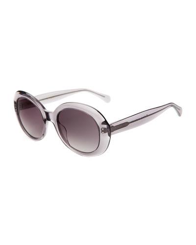 Oval Acetate Sunglasses