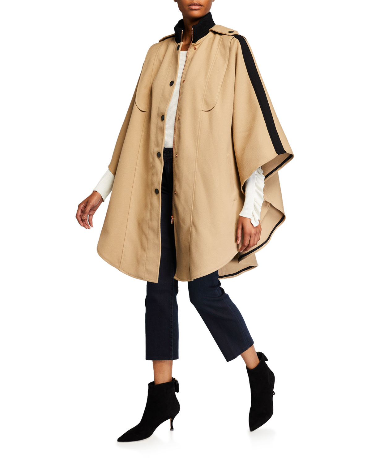 See By Chloé Coats SNAP-FRONT CAPE COAT