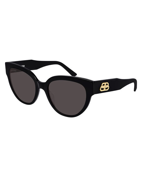 Balenciaga Acetate Cat-Eye Sunglasses  with BB Temple