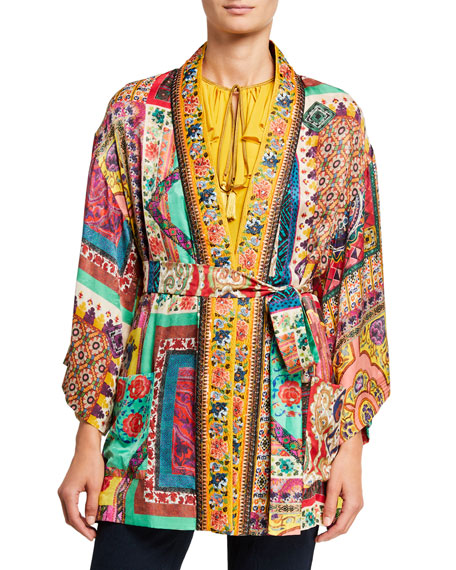 Etro Beaded Kesa Wrap Jacket