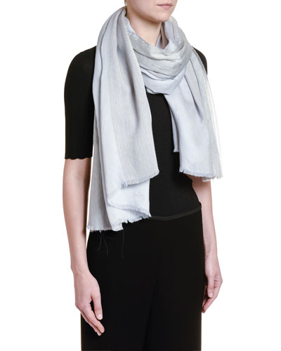 Metallic Wool Scarf, Ivory