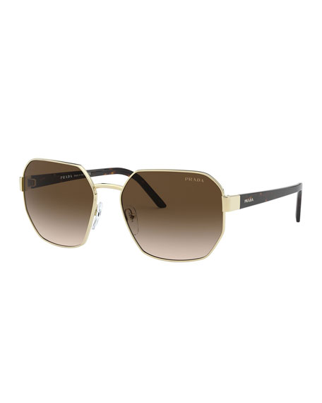 Prada Square Metal Sunglasses