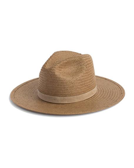 Janessa Leone Adriana Straw Fedora Hat