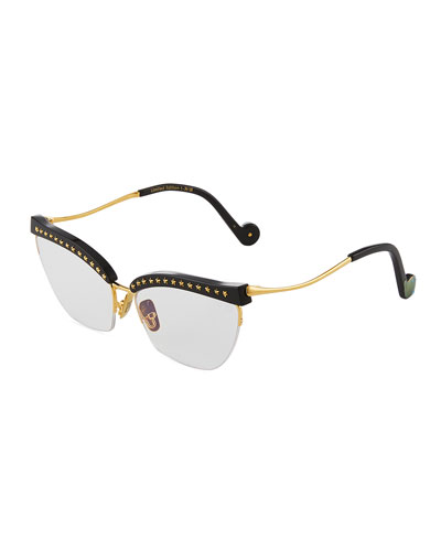 Divine Lil Something Semi-Rimless Cat-Eye Optical Frames