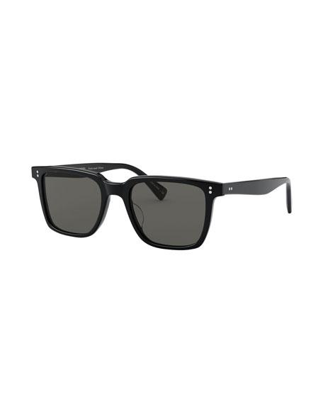Oliver Peoples Lachman Square Polarized Acetate Sunglasses