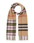 Burberry Found Check to Giant Check Scarf