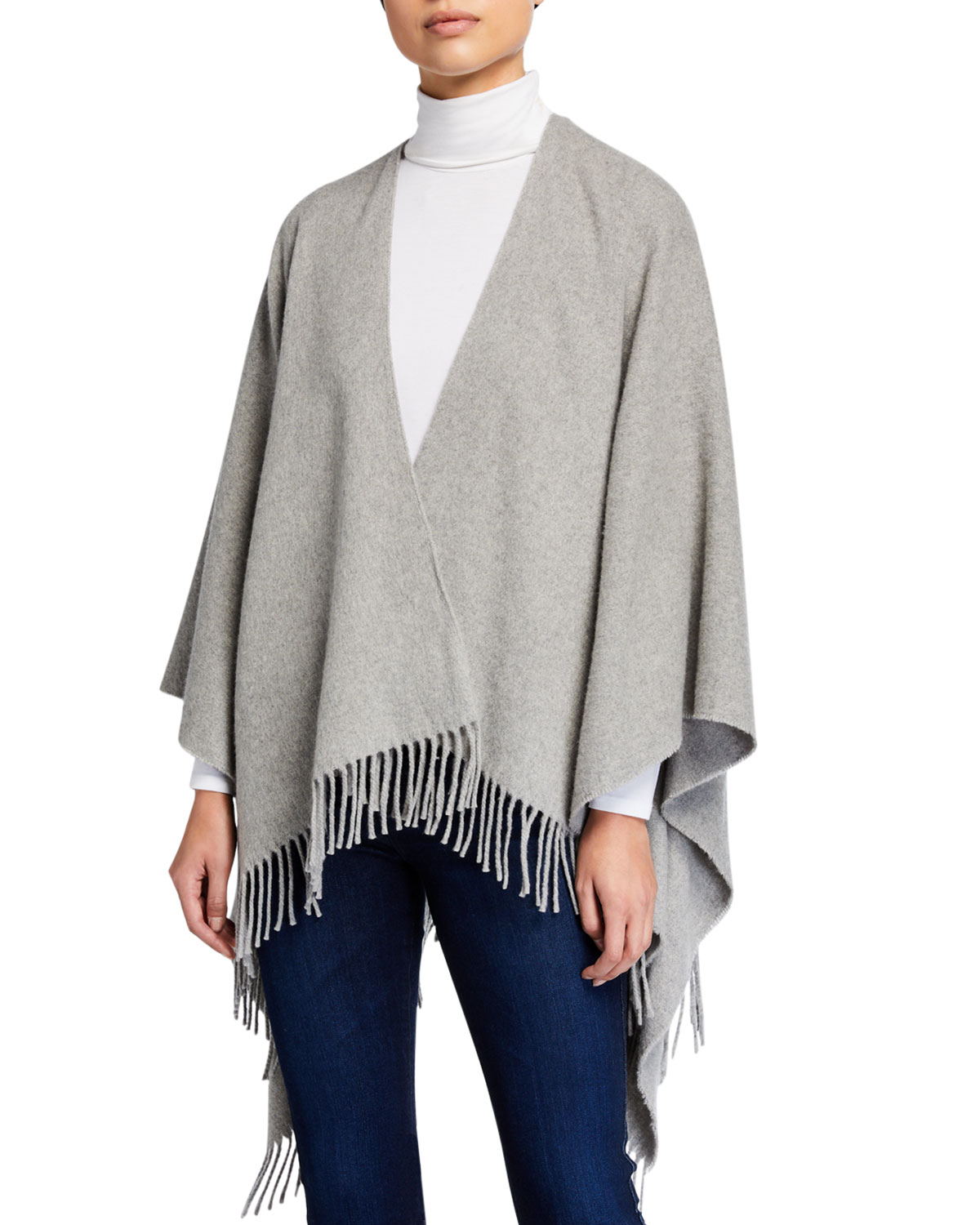 Rag & Bone Tops CASHMERE PONCHO WITH FRINGE