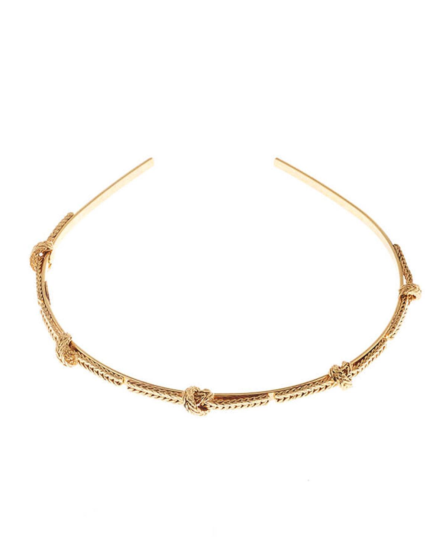 Oscar De La Renta Braided Chain Headband In Gold
