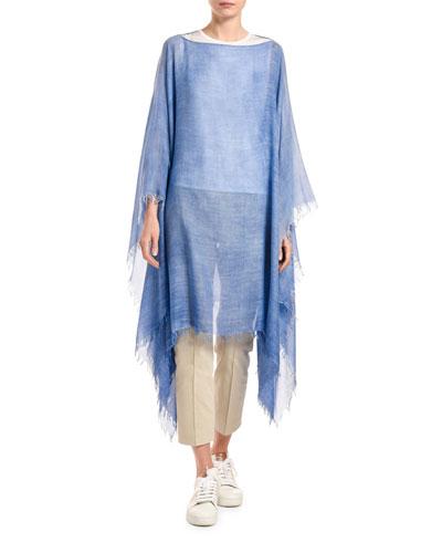 Cashmere Cotton Knit Poncho