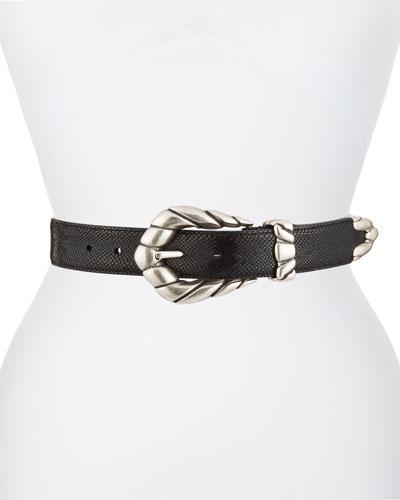 Embella Leather Belt