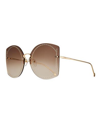 Gancini Rimless Sunglasses