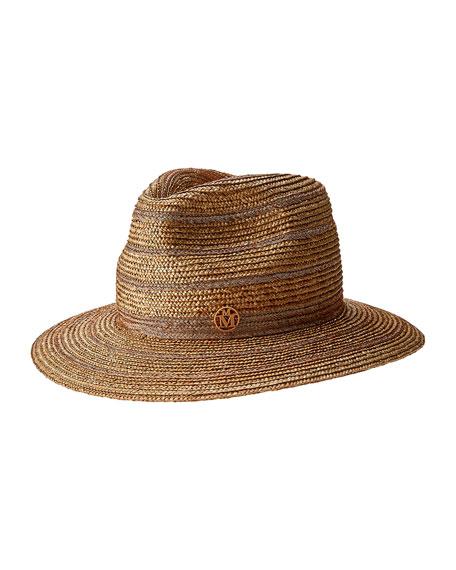 Maison Michel Rico Straw Fedora Hat