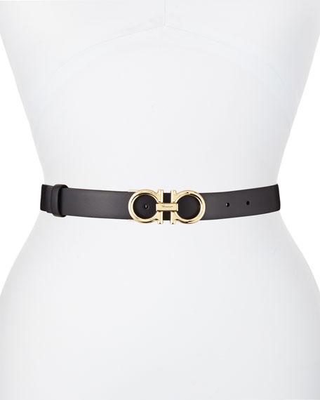 Salvatore Ferragamo Reversible Leather Gancini Belt