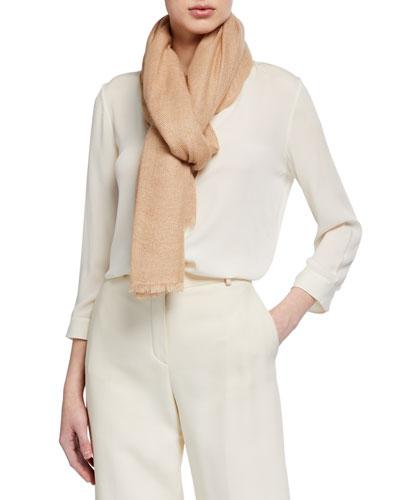 Herringbone Silk-Cashmere Scarf