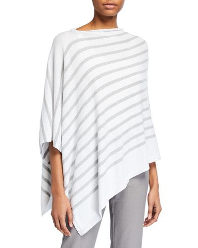 Striped Organic Cotton Poncho