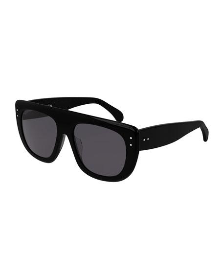 ALAIA Rectangle Acetate Sunglasses