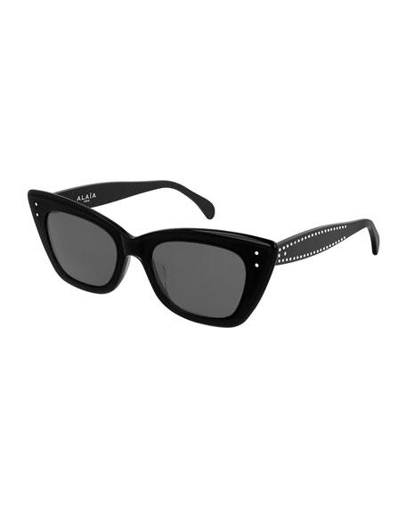 ALAIA Studded Acetate Cat-Eye Sunglasses