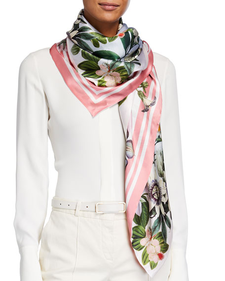 St. Piece Lydia Lucy Double Sided Silk Scarf