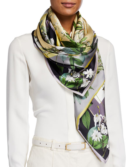 St. Piece Louise Double Sided Silk Scarf