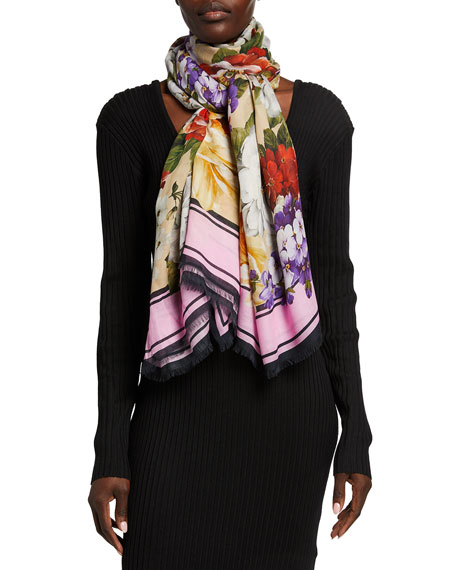 Dolce & Gabbana Flower Modal/Cashmere Scarf